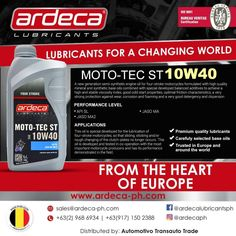 Want an upgrade for your motorcycle engine? Try our Moto-tec ST It is specially developed for the lubrication of four-stroke motorcycles so that sliding, sticking and/or rough changing of the clutch-plates no longer occurs!