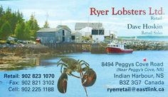 Ryer Lobsters enroute to Peggy's Cove