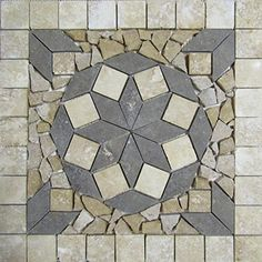 """18"""" Natural Stone Tile Indoor or Outdoor Floor or Wall Art Medallion Mosaic Stone Deals http://www.amazon.com/dp/B01CXMK0PW/ref=cm_sw_r_pi_dp_cWI5wb0D353Y9"""