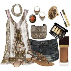 Summer outfit...Tribal, created by missyfer88 on Polyvore