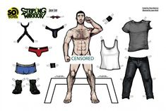 New comic book series STRIPLING WARRIOR is offering up some sexy paper dolls for your collecting pleasure. Stripling Warriors, Art Case, Guy Drawing, Gay Art, Toys For Boys, Bad Boys, Anime Guys, Coloring Books, Coloring Sheets