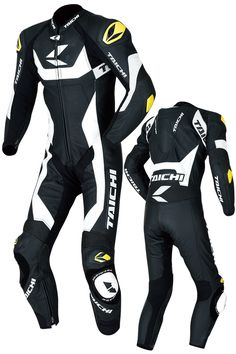 RS Taichi R304 GP-WRX Leather Suit Black