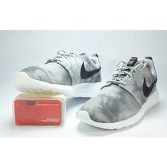 Nike Roshe Run Womens Mens Shoes Gray Ripple White