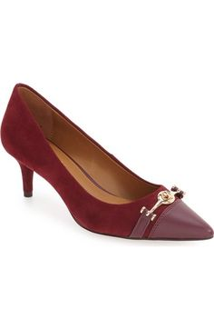 COACH 'Lauri' Capped Pointy Toe Pump (Women) available at #Nordstrom