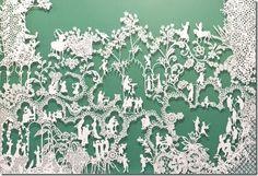 Emma van Leest papercut art