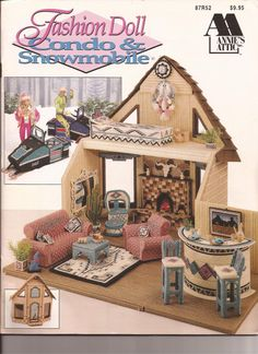 Plastic Canvas - Fashion Doll Condo & Snowmobile - Pattern Book - PDF Form
