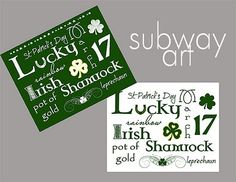 St. Patrick's day printables -- these shown + more