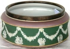 Wedgwood jasperware bowl with lilac,green and white color Wedgwood, Green And Purple, Luster, Lilac, Pottery, Ceramics, Crystals, Colors, Porcelain
