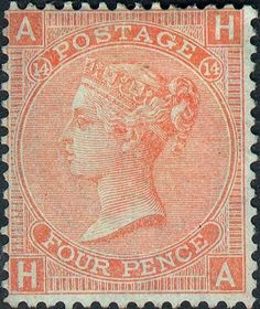 Stamp: Queen Victoria (United Kingdom of Great Britain & Northern Ireland) (Queen Victoria - Surface Printed) Mi:GB 24 Uk Stamps, Rare Stamps, Vintage Stamps, In China, Stamp Catalogue, Kingdom Of Great Britain, Queen Victoria, Stamp Collecting, Northern Ireland