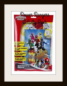 POWER RANGERS ACTIVITY PACK - Super MegaForce Kids Arts and Crafts Party NEW