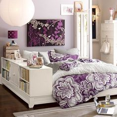Purple Bedspread - cute idea for a teenager who loves her space and colour