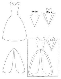 template, wedding dress & suit/tux