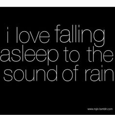 I remember being in Jamaica and a gentle rain on a tin roof.  It was wonderful to go to sleep to the rhythm of the rain.