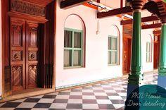 The doors . Source - artnlight: Chettinad through Meena Sriram's Lens.