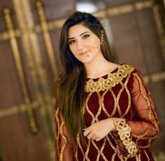 { ♡ } Stylish Dresses, Simple Dresses, Beautiful Dresses, Dresses For Work, Dress Work, Pakistani Bridal Dresses, Pakistani Outfits, Shadi Dresses, Indian Dresses