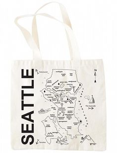 Great souvenir gift to give to my friends in Italy: the Seattle grocery tote $17