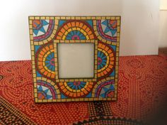 Photo frame -paper mosaic Paper Mosaic, Boxes, Magic, Crafty, Frame, Cards, Home Decor, Mosaics, Picture Frame
