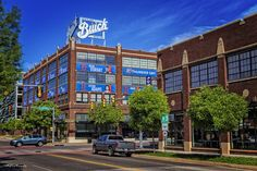 """https://flic.kr/p/GJ5j6W   Thunder Up!   Buick building in Automobile Alley in Oklahoma City. This building is supporting the NBA team """"Oklahoma City Thunder""""."""