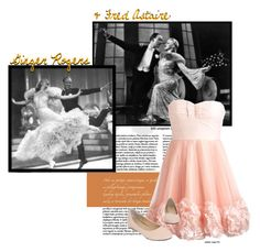"""Ginger Rogers and Fred Astaire"" by eshirley67 ❤ liked on Polyvore featuring Cotton Candy, hollywood, dancing, ginger rogers, ginger rogers and fred astaire, dancing couples, fred astaire, classic, dance and classic hollywood"