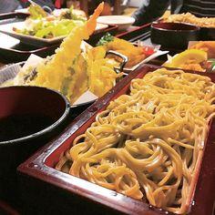 Pinを追加しました!/十割そばにてんぷら。1日だけど、旅行みたい。 #東京 #tokyo #tempura #ファインダー越しの私の世界 #日本食 #japanesefood