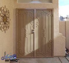 Wrought iron security screen double doors Model: Barnam - FD0206