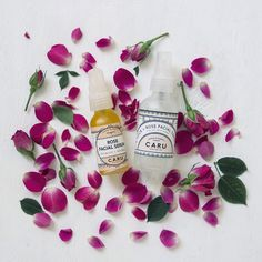Rose Skincare Duo // Toner  Serum by CaruSkincareCo on Etsy