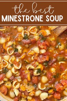 Homemade Vegetable Soups, Vegetable Soup Recipes, Veggie Soup, Italian Vegetable Soup, Bean And Vegetable Soup, Italian Soup, Hearty Soup Recipes, Vegetarian Recipes, Cooking Recipes