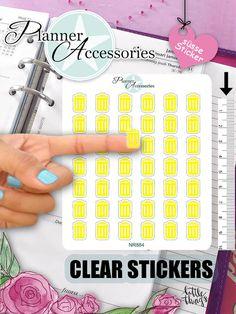 Symbole - Clear Sticker Tonne NR884 - ein Designerstück von PlannerAccessories bei DaWanda