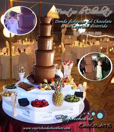 Caprichos de Chocolate · Fuentes de chocolate y mesas de dulces