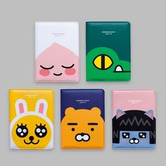 Kakao Friends PU Leather Cover 2017 New Year Diary Scheduler Planner M Simple Character, Character Design, Sticky Monster, Kids Branding, Branding Design, Line Friends, Friends 2017, Kids Toothpaste, Kids Packaging