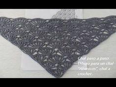 Como tejer chal de abanicos en crochet mejor explicado VIDEO 1 - SUBTITLES ENGLISH - YouTube