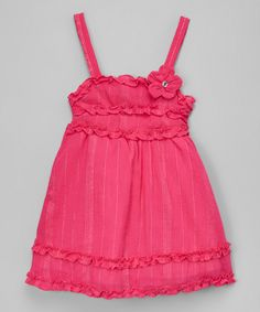 Look at this #zulilyfind! Limited Too Fuchsia Ruffle Dress - Infant, Toddler & Girls by Limited Too #zulilyfinds