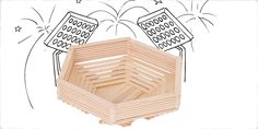 Construct a sturdy stadium of of craft sticks for your toys to play in. If you build it, they will come.