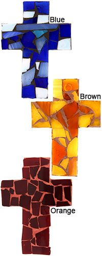Mosaic Glass Wall Cross at The Animal Rescue Site