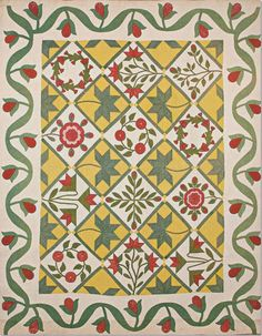 Garden Wreath Quilt, c 1860. Classic Quilts from the American Museum in Britain.