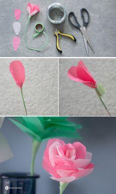 Einfach Anleitung für DIY Papierblumen {Selbermachen Schritt für Schritt}…
