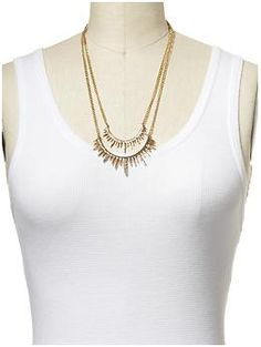 Hive & Honey Pavé Two Row Sun Ray Necklace   Piperlime