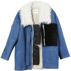 Sandy Liang Citroen Jacket ($1,975) ❤ liked on Polyvore featuring outerwear, jackets and blue jackets