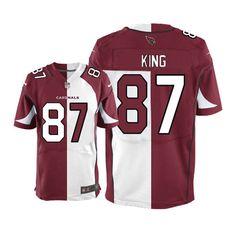 limited jeff king mens jersey arizona cardinals 87 teamroad two tone nike