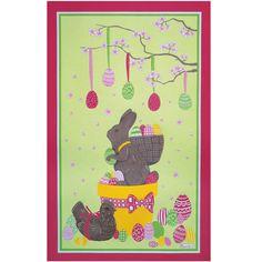 Velikonoční zajíček na utěrce