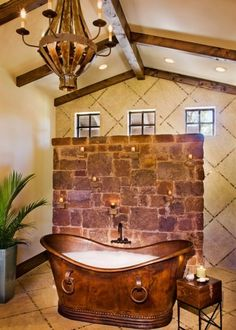 A Copper Bath Awesome Looking. ~~ Would be a great place to unwind to think about the next story I want to write. LD.