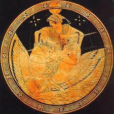 """Selene (Greek: Σελήνη [selɛ̌ːnɛː] """"moon"""") is the goddess of the moon. She is the daughter of the Titans Hyperion and Theia, and sister of the sun-god Helios, and Eos, goddess of the dawn. She drives her moon chariot across the heavens. Ancient Greek Art, Ancient Greece, Potnia Theron, Greek Pottery, Moon Goddess, Goddess Art, Gods And Goddesses, Greek Mythology, Deities"""