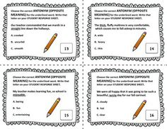 Worksheets Word Wise  With Synonym ,antonym,homophone maniac magee crossword and vocabulary on pinterest synonym antonym homophone task cards build your students skills with
