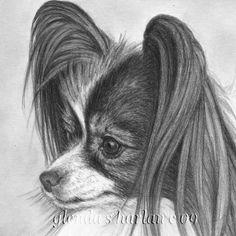 Papillon Dog Fine Art 8x10 Print by glendaharlan on Etsy, $15.00