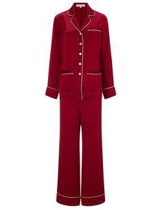 Scarlet Silk Coco Pyjamas Olivia Von Halle