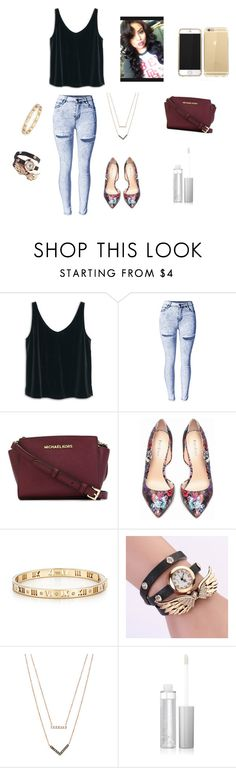 """Untitled #67"" by jadabrayton ❤ liked on Polyvore featuring MANGO, MICHAEL Michael Kors, Bebe, Tiffany & Co. and Michael Kors"