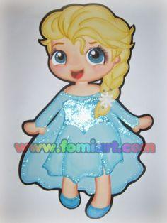 Elsa frozen manualidades en foami: