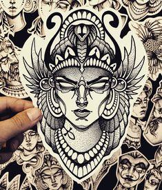 Neue Tattoos, Body Art Tattoos, Small Tattoos, Blackwork, Tattoo Sketches, Tattoo Drawings, Mc Escher Art, Cleopatra Tattoo, Saint Tattoo