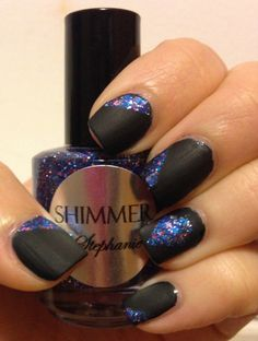 Matte Glitter Nails (with link to blog post/tutorial)