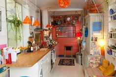 Beautiful colourful kitchen